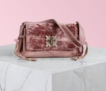 Mini-Tasche Miss Vivier mit Strass-Schnalle aus Samt