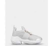 Sneakers Viv' Run Bling mit Strass Schnalle aus technischem Gewebe