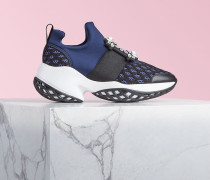 Sneakers Viv Run mit Strass-Schnalle aus technischem Gewebe