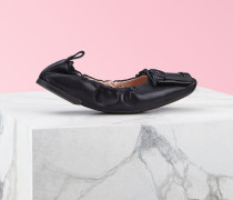 Ballerinas Viv' Pockette mit lackierter Schnalle aus Nappaleder