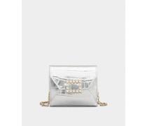 Mini Portemonnaie Très Vivier mit Strass-Schnalle aus Leder