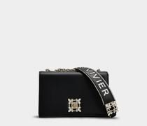 Tasche Miss Vivier mit Strass-Schnalle aus Nappaleder