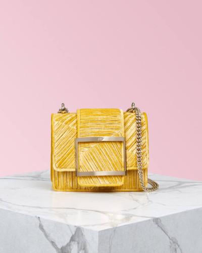Très Vivier Duo Plissé Bag Mini
