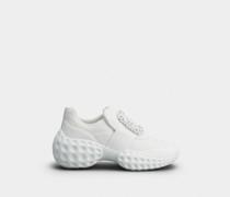 Sneakers Viv' Run Moonlight aus Stoff mit Strass-Schnalle