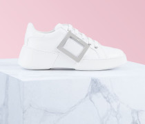 Sneakers Viv' Skate mit Metallschnalle aus Nappaleder