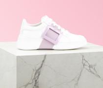 Sneakers Viv' Skate mit lackierter Schnalle aus Nappaleder
