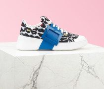 Sneakers Viv' Skate mit lackierter Schnalle aus Stoff