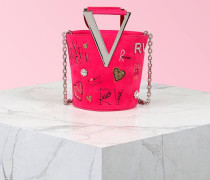 Mini Tasche RV Funny Love aus Veloursleder