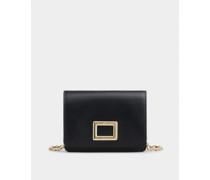 Mini Portemonnaie Très Vivier Belty aus Leder