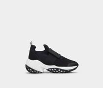 Sneakers Viv' Run mit Gummi-Schnalle aus technischem Gewebe