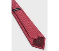 Krawatte aus gestreifter Seide mit Logo