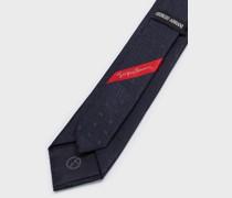 Krawatte aus Seide mit durchgehendem Logo