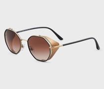 Rechteckige Sonnenbrille , mit Aufsatz zum Aufstecken