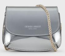 Mini-Tasche La Prima aus Leder mit Flüssiglack