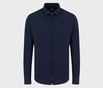 Slim-Fit-Hemd aus Baumwolle mit Reißverschluss