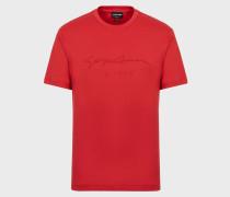 T-Shirt aus Baumwolljersey mit Aufgedrucktem Logo