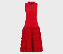 Plissiertes Kleid mit Geprägtem Rock
