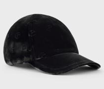 Baseballcap aus Stoff und Leder