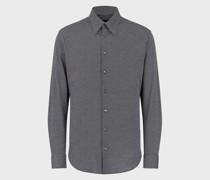 Klassisches Hemd aus Baumwolle im Jacquard-Muster