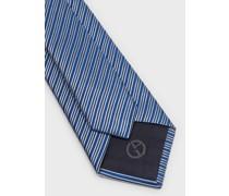 Krawatte aus Seide mit diagonalen Streifen