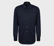 Slim Fit Hemd aus Baumwolljersey