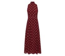 Midi Polka Dot Kleid mit Stehkragen