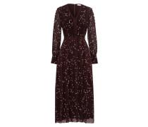 Midi Plissée Kleid gemustert