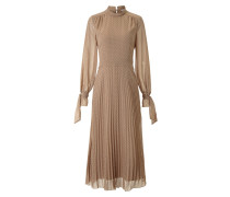 Midi Plissee Kleid mit Polka Dots