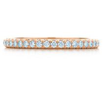 Tiffany Soleste geschlossener Eternity Ring in Roségold mit Diamanten