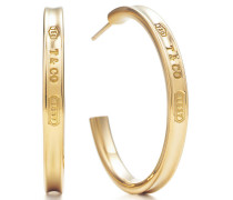 Tiffany 1837™ schmale Creolen in 18 Karat Gold