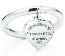 Return to Tiffany™ Ring mit Herzanhänger in Sterlingsilber