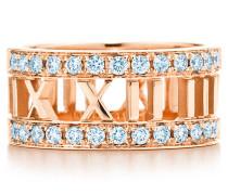 Atlas® offener Ring in 18 Karat Roségold mit einem Diamanten