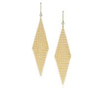 Elsa Peretti® Mesh Netzohrringe aus 18 kt Gold mit Diamanten