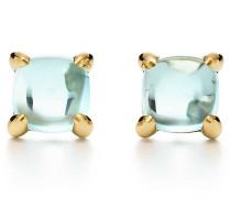 Paloma's Sugar Stacks Ohrringe in 18 Karat Gold mit Blautopas