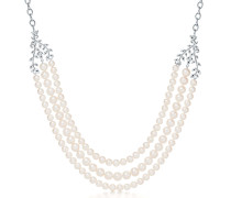 Paloma Picasso® Olive Leaf dreireihiges Perlencollier in Sterlingsilber