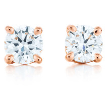 Tiffany Solitaire Diamantohrringe in 18 Karat Roségold