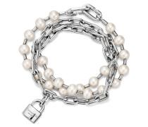 Tiffany City HardWear Armband mit Süßwasserperlen und Schloss in Silber