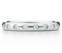 Elsa Peretti® kombinierbarer Bandring in Platin mit acht Diamanten