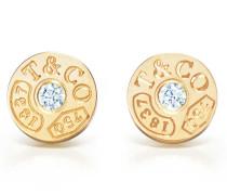 Tiffany 1837™ Circle Ohrringe in 18 Karat Gold mit Diamanten