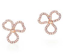 Tiffany Paper Flowers® Ohrringe mit offener Diamantblüte in 18 Karat Roségold