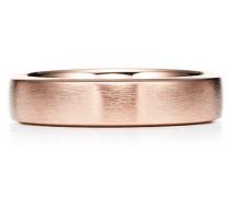 Tiffany Essential Ring satinierter Ehering in 18 Karat Roségold