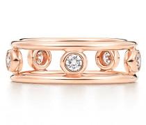 Elsa Peretti® Diamonds by the Yard® Ring in 18 Karat Roségold mit Diamanten