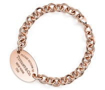 Return to Tiffany™ Armband mit ovalem Anhänger in 18 Karat Roségold