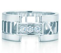 Atlas® offener Ring in 18 Karat Weißgold mit Diamanten