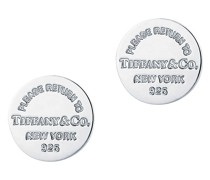 Return to Tiffany™ runde Ohrstecker in Silber