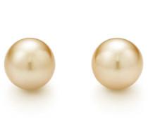 Tiffany South Sea Perlenohrringe mit 18 Karat Gold