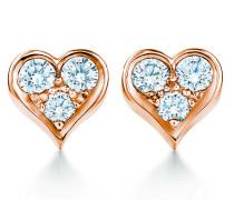 Tiffany Hearts™ Ohrringe aus 18 Karat Roségold mit Diamanten