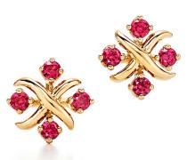 Tiffany & Co Schlumberger Lynn Ohrringe in 18 Karat Gold mit Rubinen