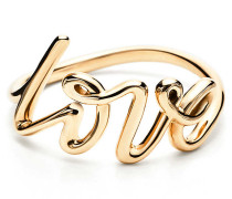 Paloma's Graffiti Love Ring in 18 Karat Gold