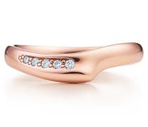 Elsa Peretti® Open Heart Bandring in 18 Karat Roségold mit Diamanten
